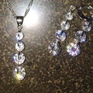 Jewelry - CZ Sterling necklace a SET